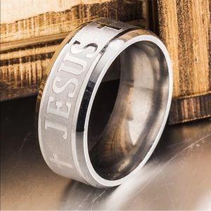 Jesus Christian Religious Ring Titanium